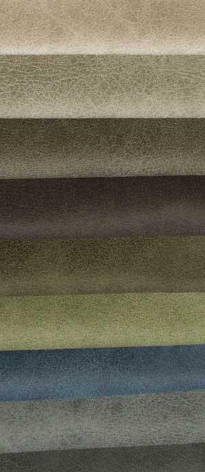 Microvelours grau-grünlich.