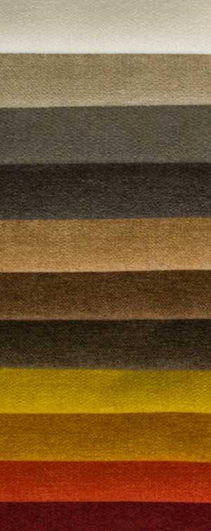 Microvelours in vielen Farben.