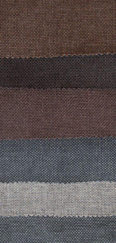 Feiner Stoff in grauen und braunen Farben.