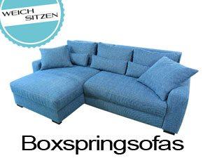 Ecksofa mit Boxspring.