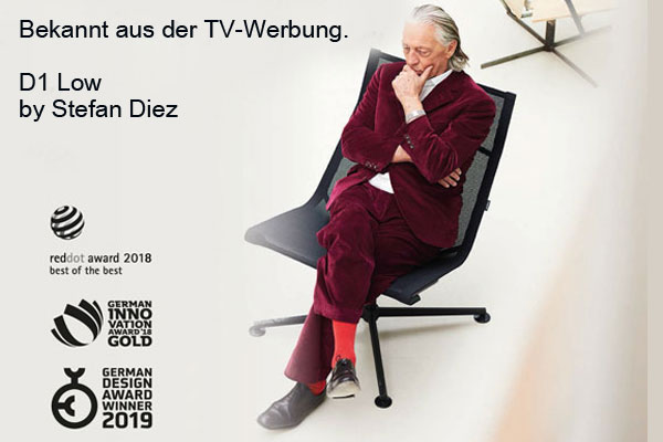 Wagner Stuhl TV Werbung mit Charles Schumann.
