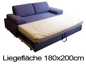 Dauerschlaefer Sofa fuer zwei Personen.