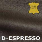 Leder in der Farbe Espresso.