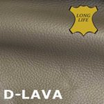 Leder in Lava, der Trendfarbe.