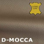 Leder mit schoener Oberflaeche in Mocca.