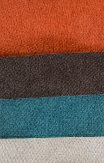 Weiche Stoffe in modernen Farben.