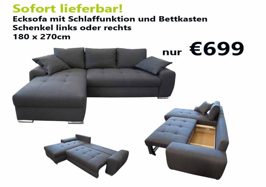 Ecksofa sofort lieferbar latest sofa sofort lieferbar auf for Schlafcouch auf rechnung