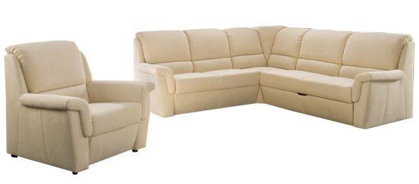 ecksofa mit sessel sofadepot. Black Bedroom Furniture Sets. Home Design Ideas