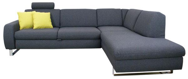 Ecksofa grau mit schlaffunktion  Ecksofa mit Schlaffunktion und Bettkasten, günstig im Sofadepot.
