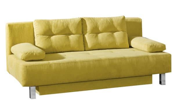Guenstiges Schlafsofa in gelb.