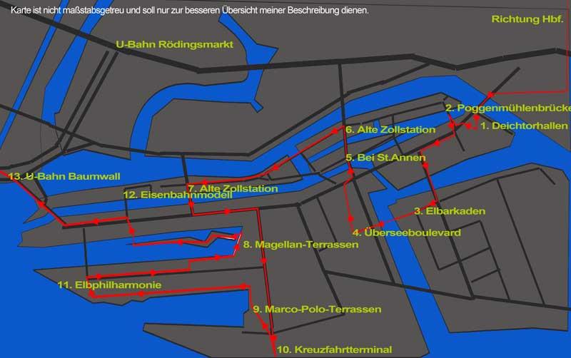 Rundgang Speicherstadt und Hafencity.