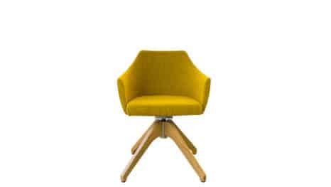 Guter Stuhl fuer kleine Raeume.