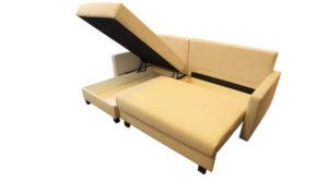 Kleinstes Ecksofa mit zwei Bettkaesten sofort lieferbar.