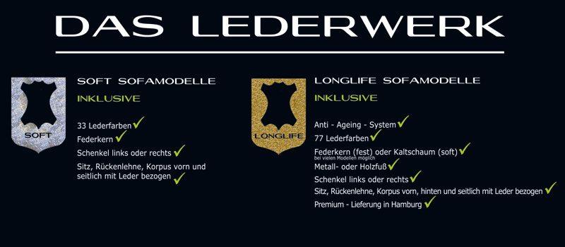 Infos zu Ledersofas.