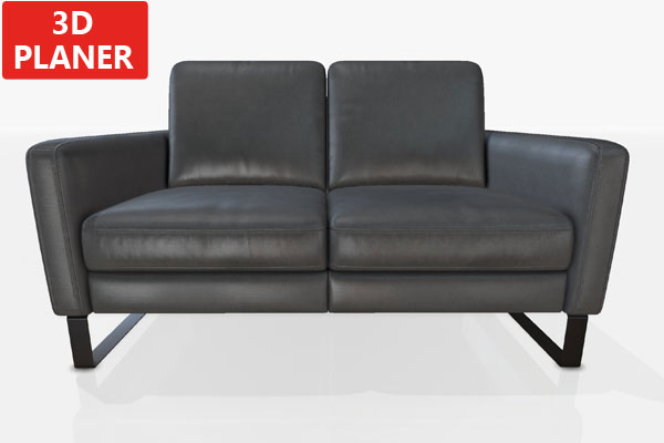 Leder Zweier-Sofa.
