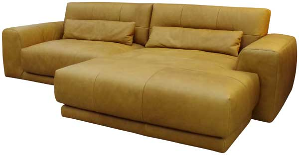 Sofa in Leder Cognac.