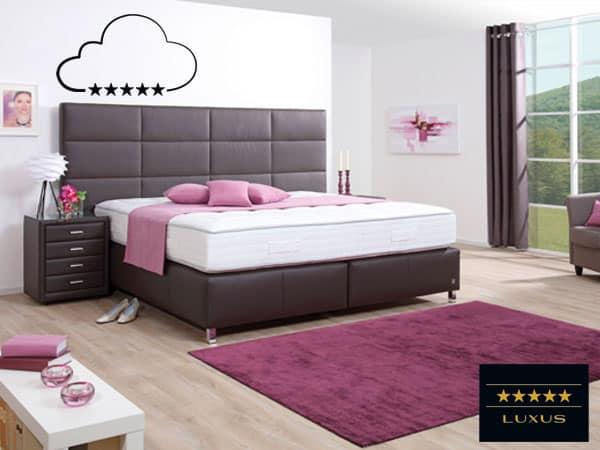Bett in 160x200cm Luxusausführung.