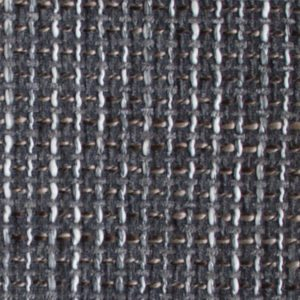 Grauer Strukturstoff mit weißem Faden.