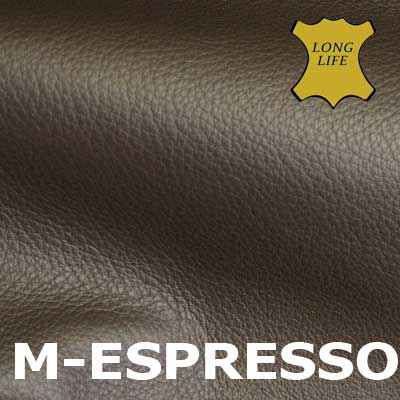 Perfekt Semi Anilin Leder Espresso
