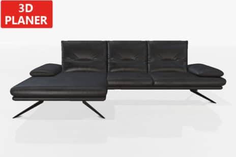 Sofa in Leder Francis bezogen.