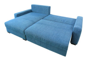 Ecksofa mit Bettfunktion.