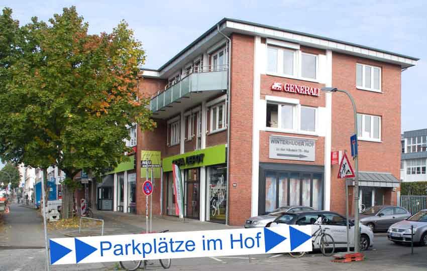 Parkplätze Sofadepot Winterhuder Weg.