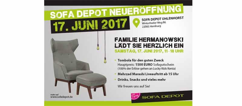 Sofadepot Neueroeffnung Hamburg-Uhlenhorst