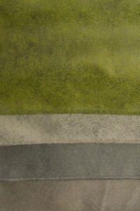 Weicher Stoff auch in grün.