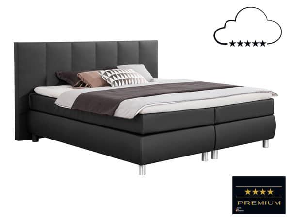 Bett in 200x200cm mit Taschenfederkern.