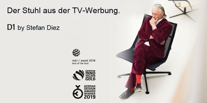 Wagner Stuhl aus der TV Werbung.