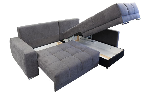 eckschlafsofa mit bettkasten. Black Bedroom Furniture Sets. Home Design Ideas