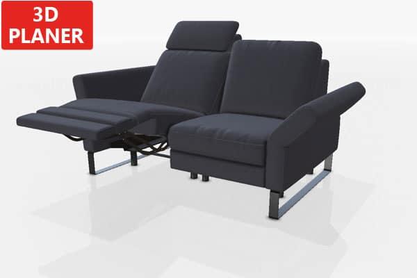 Zweier mit TV-Sessel.
