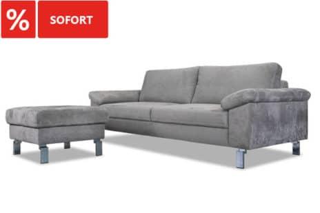 2er Sofa mit Hocker sofort.