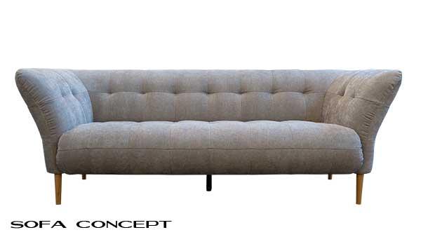 Zweisitzer Sofa im skandinavischen Stil.